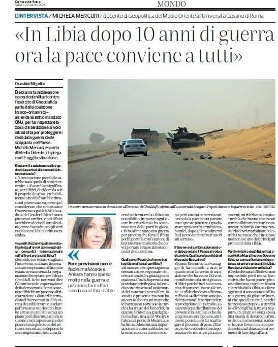 Michela Mercuri - corriere del Ticino